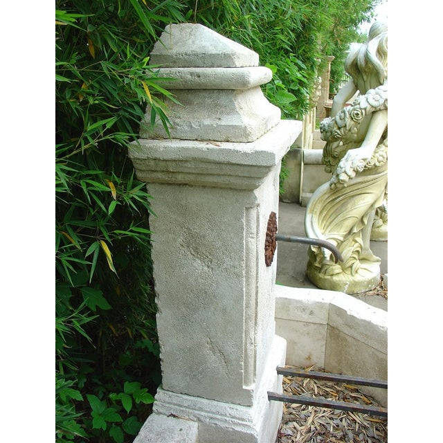 Early 20th Century Carved Limestone Wall Fountain from France For Sale - Image 5 of 5