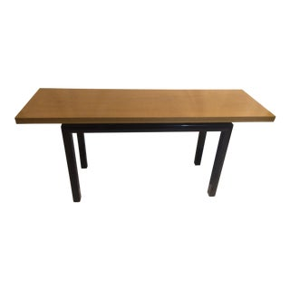 Mid-Century Modern Mahogany Flip-top Dining Table with Ebonized Legs For Sale