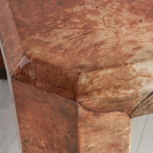 Animal Skin Lacquered Goat Skin Coffee Table For Sale - Image 7 of 8