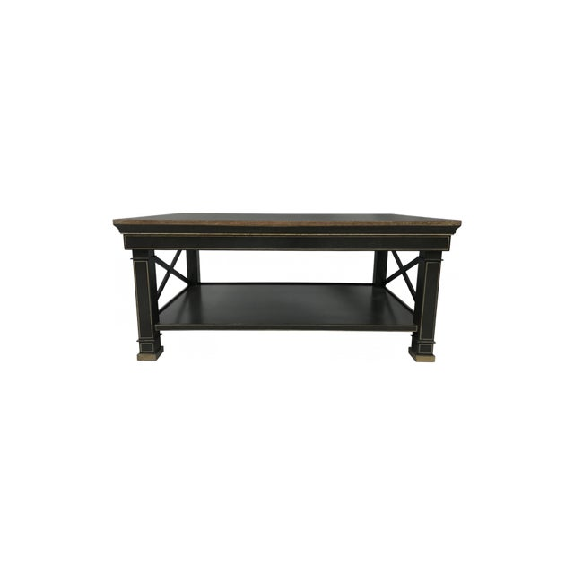 Hand Painted Coffee Table in Ebney For Sale In New York - Image 6 of 6
