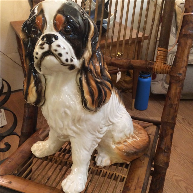 Traditional King Cavalier Spaniel Statue For Sale - Image 3 of 7