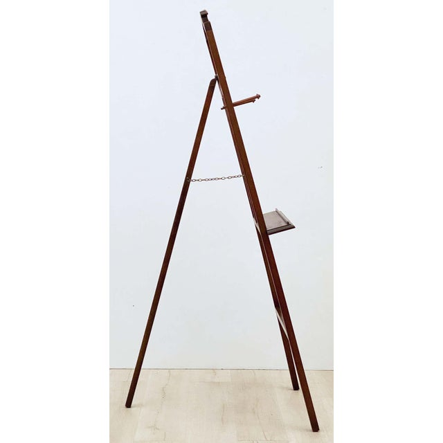Brown English Artist's or Display Easel With Carved Wood Accents For Sale - Image 8 of 13