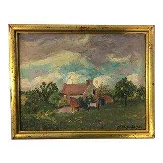European Farm Landscape Painting