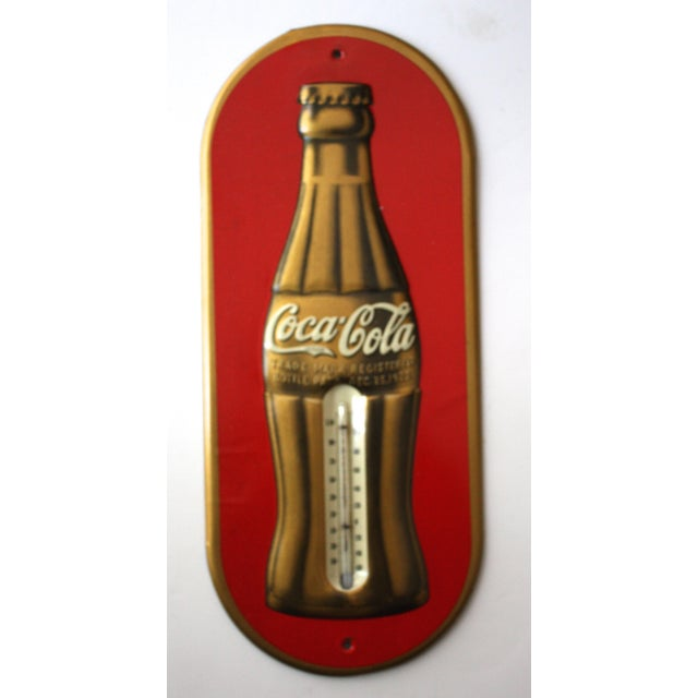 Vintage Coca-Cola Metal Thermometer Sign - Image 2 of 4