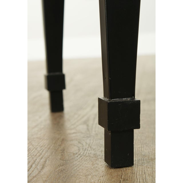 Hollywood Regency Style Black & Gold Glass Top Console Table For Sale - Image 11 of 13