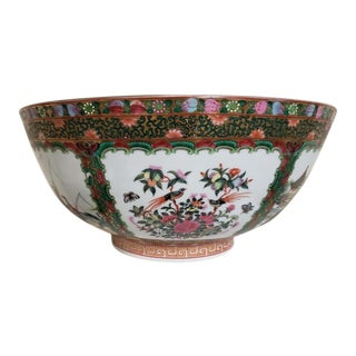 Mid-19th Century 'Canton Famille Rose' Punch Bowl For Sale