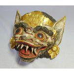 Vintage Hand-Carved & Painted Masks - Set of 3 - Image 3 of 5