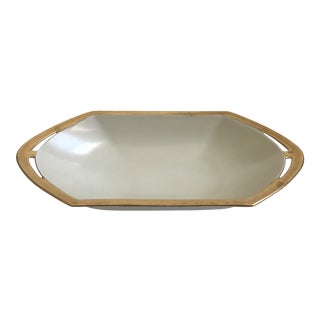 Small White & Gold Dish