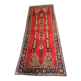 "Mid-Century Persian Architectural Rug - 4'11"" x 12'9"" For Sale"