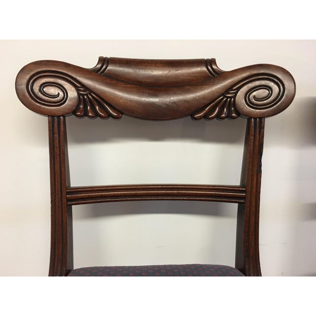 Traditional 19th Century Antique English Mahogany Chairs - Set of 6 For Sale - Image 3 of 11