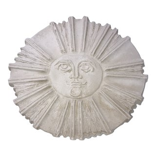 "Vintage Mid-Century ""Sun"" Sand Cast Art Sculpture For Sale"