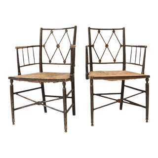 Pair of English Regency Armchairs For Sale