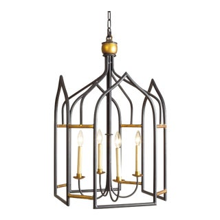 Seville Black & Gold Lantern For Sale