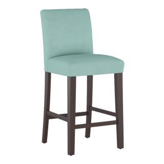 Bar stool in Velvet Caribbean For Sale