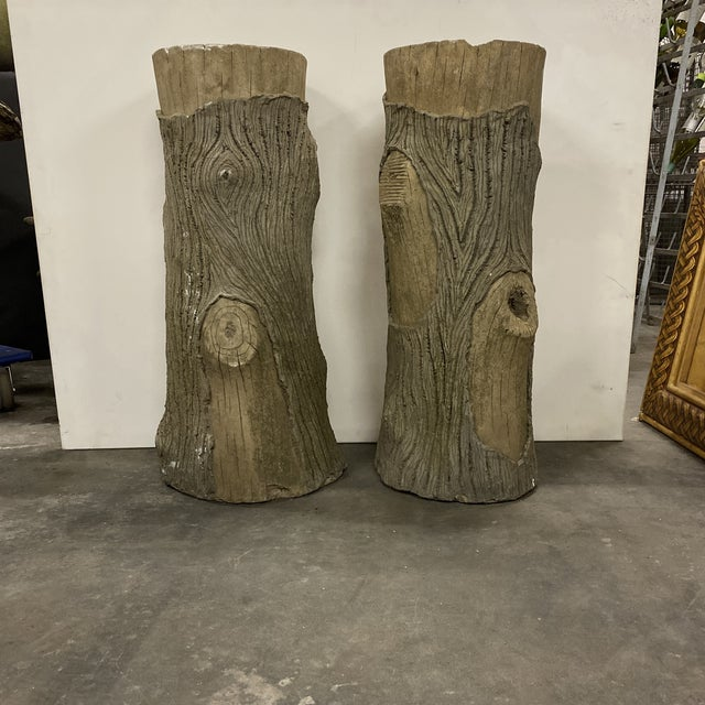 Vintage Faux Bois Planters - a Pair For Sale In Atlanta - Image 6 of 6