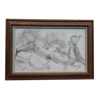 Signed Dated Ink Wash Drawing By Lois Davis For Sale