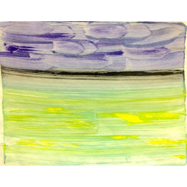 """Purple Night"" Handmade Ocean Print, 2016 - Image 1 of 4"