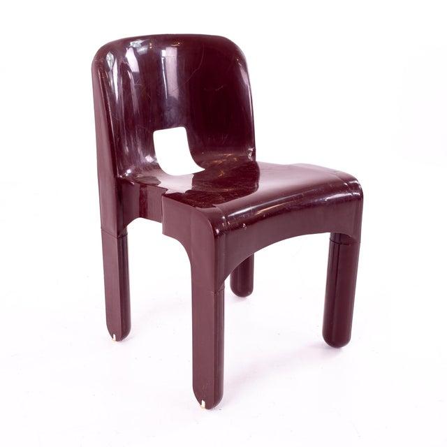 Kartell Joe Colombo Kartell Mid Century Plastic Chairs - Pair For Sale - Image 4 of 10