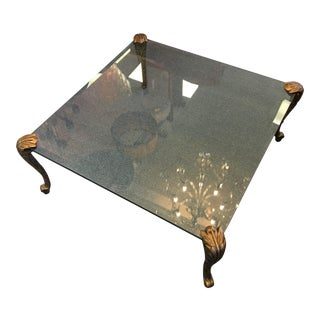 P.E. Guern Loius IV Glass Top Cocktail Table