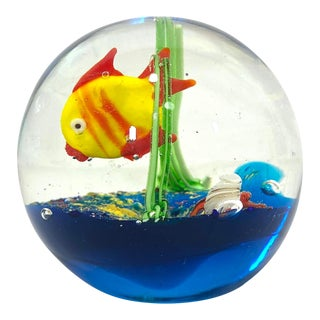 Under Sea Design Paper Weight Globe For Sale