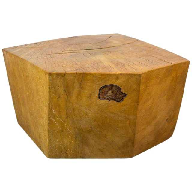 Huge Solid American Studio Coffee Table or Stool by Howard Werner For Sale