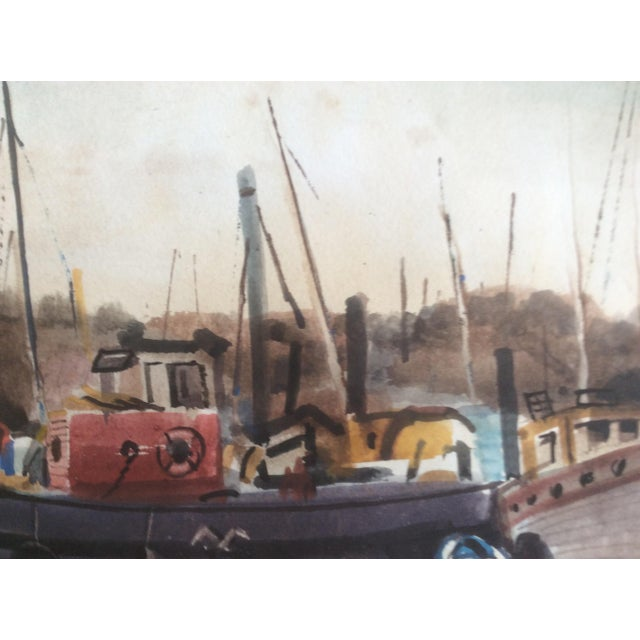 Fishing Boats Watercolor For Sale - Image 6 of 11