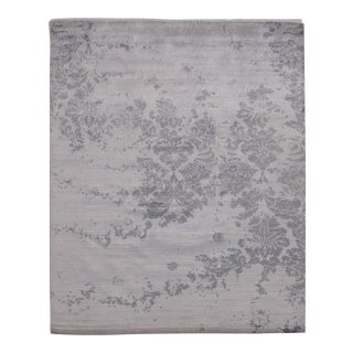 """Pasargad N Y Modern Bamboo Silk Hand Knotted Area Rug - 8'2"""" X 10'1"""" For Sale"""