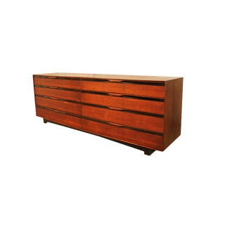 John Stuart Mid Century Long Walnut Dresser For Sale