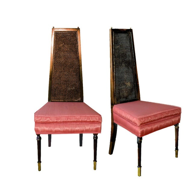 Adrian Pearsall Style Vintage Cane Back Side Chairs - a Pair For Sale - Image 11 of 11