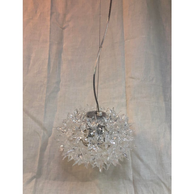 Contemporary Kartell Bloom S2 Transparent Crystal Pendant For Sale - Image 3 of 8