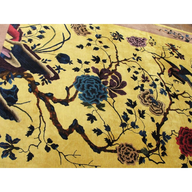 """Antique Chinese Art Deco Rug-8' X 9'8"""" For Sale - Image 10 of 11"""