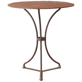 French Round Iron Bistro or Cafe Table For Sale