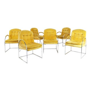 Set of 6 Chairs by Milo Baughman From 1970. American Design. For Sale