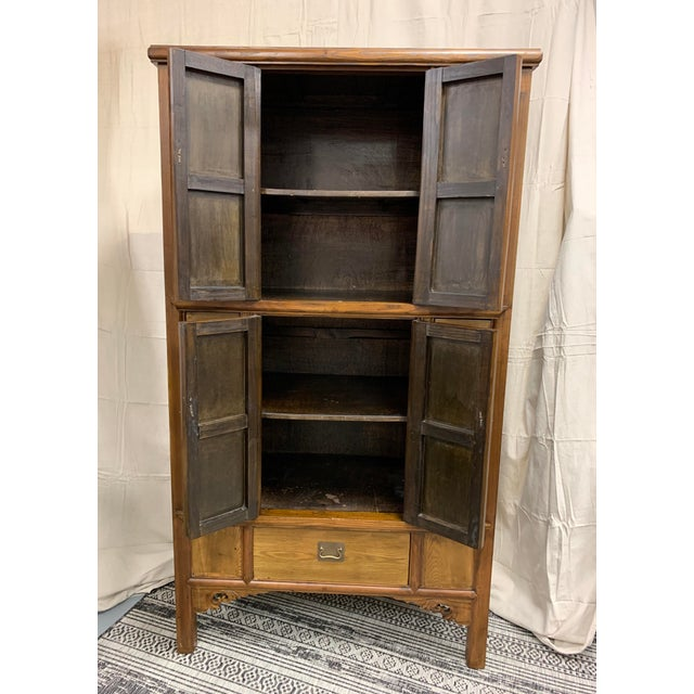 Wonderful Cabinet making storage very stylish Soft Caramel colors Great hardware details Hidden storage on either side of...