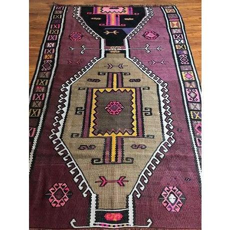 Antique Anatolian Kars Kilim Rug - 4′2″ × 6′7″ - Image 5 of 10