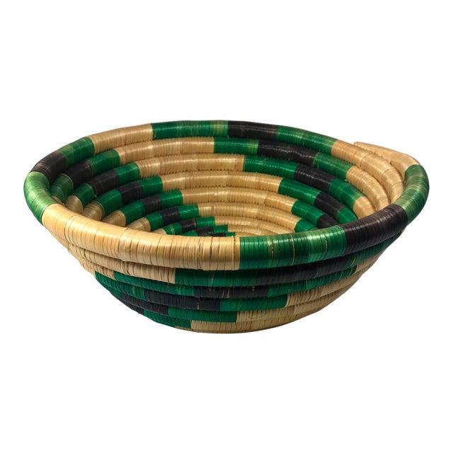 Handmade African Grass Basket - Image 1 of 11