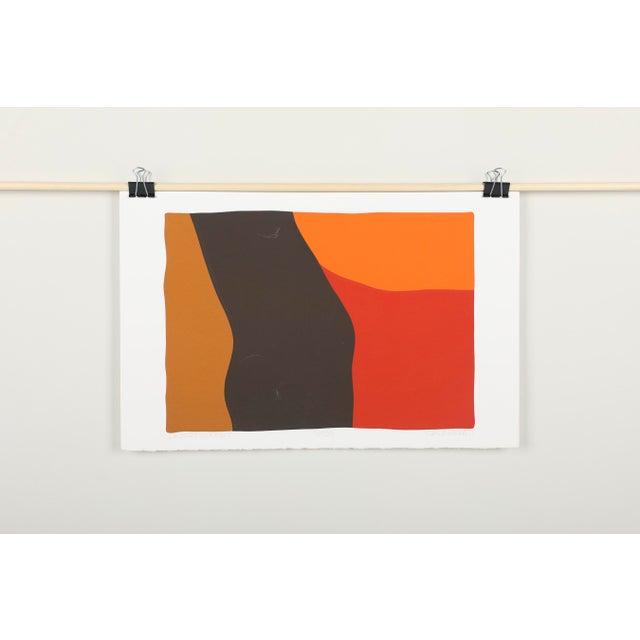 "Abstract original silkscreen, ""Desert Sunset"" by C. Daniel Gelakoska. Signed and numbered in pencil, edition 90/100. Circa..."