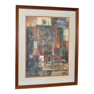 John De Tore Vintage Watercolor C.1960's For Sale