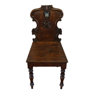 Mid 19th Century Vintage Oxford University Hall Chair For Sale