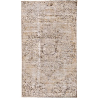"""Vintage Persian Distressed Rug, 3'09"""" X 6'09"""" For Sale"""