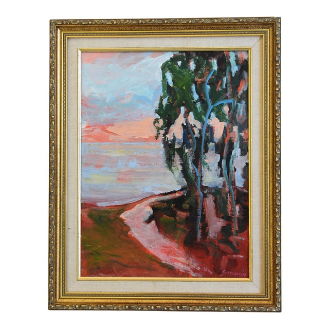 Juan Guzman Plein Air Seascape Landscape Oil Painting For Sale