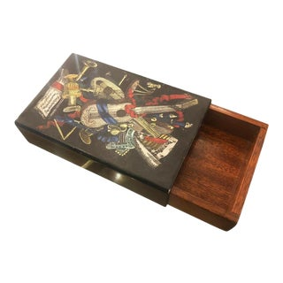 1960s Piero Fornasetti Box with Musical Motif For Sale
