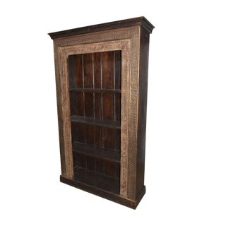 Antique Mediterranean Rustic Bookcase