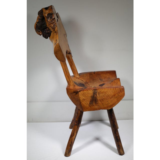 Early 20th Century Rustic Live Edge Hickory and Buckthorn Side Chair circa 1930s - Image 5 of 5