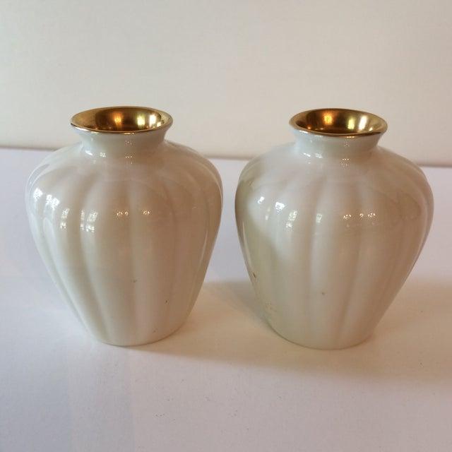 Vintage Cream Gold Lenox Vases A Pair Chairish