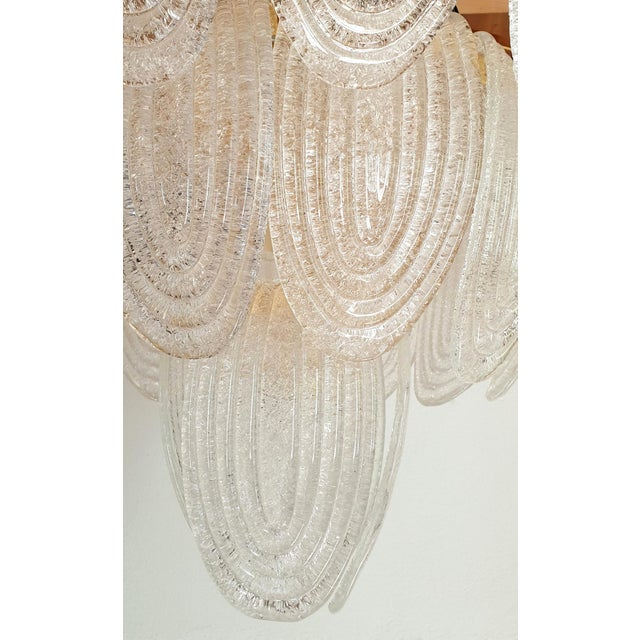 Large Mid-Century Modern Murano Glass Chandelier by Mazzega For Sale - Image 10 of 12