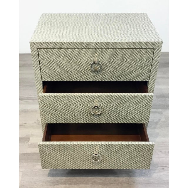 2010s Bungalow 5 Modern Tweed Brittany Chest of Drawers For Sale - Image 5 of 6