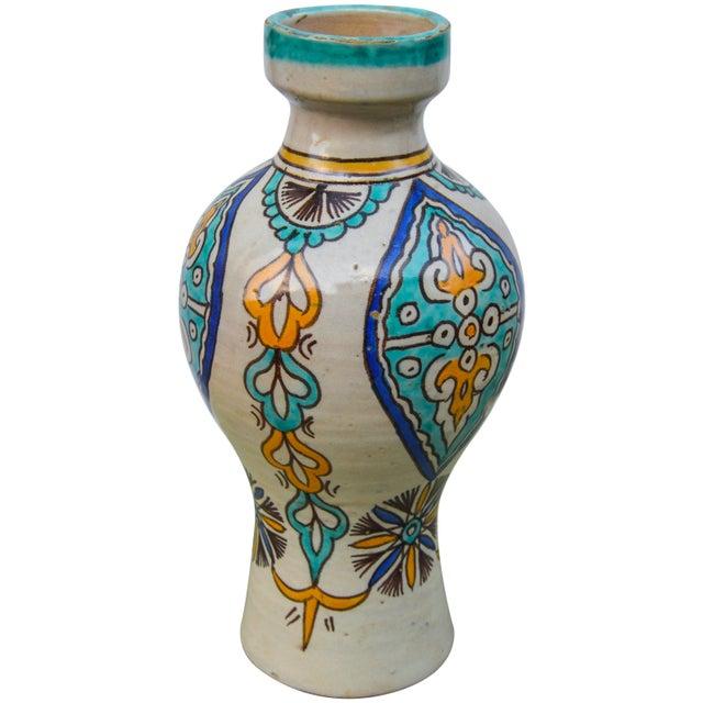 Moorish Ceramic Vase For Sale - Image 4 of 9
