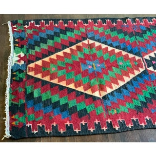 1980s Vintage Handmade Aztec-Style Kilim Rug - 4′ × 5′10″ Preview