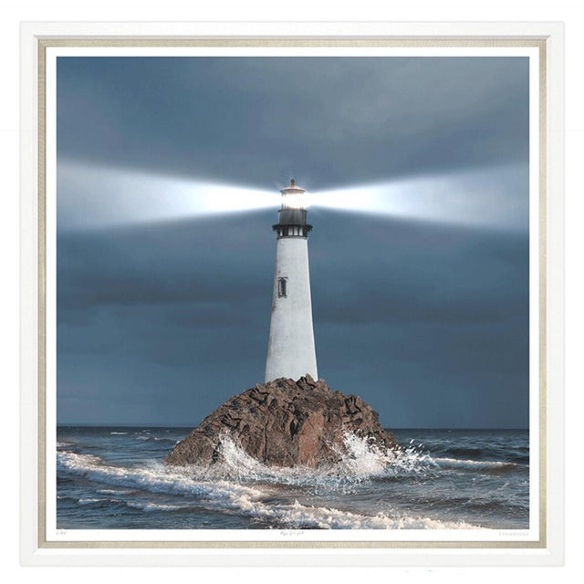 "Framed Trowbridge ""Ray of Light"" and ""Crashing Waves"" set of two by unknown artist, limited edition giclees on white..."